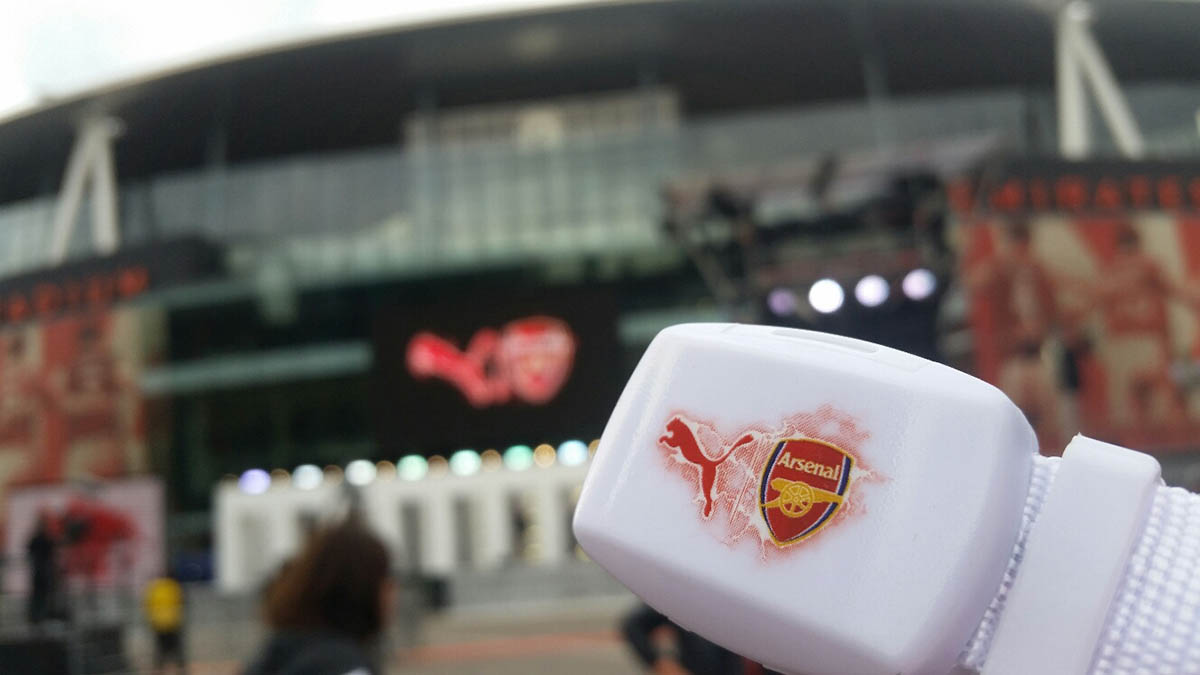 Xylobands for Arsenal Kit launch 2015/16