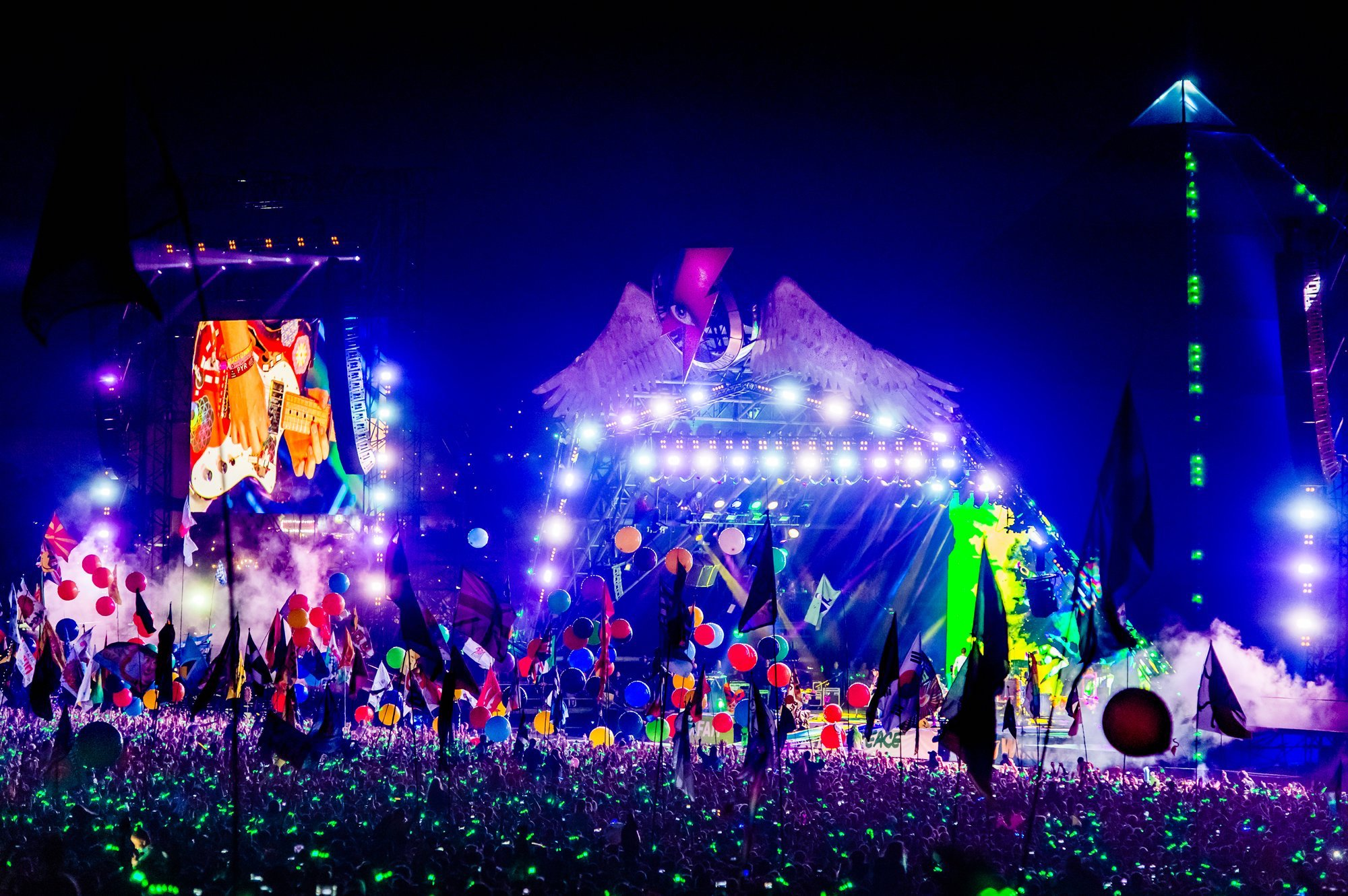 Xylobands at Glastonbury
